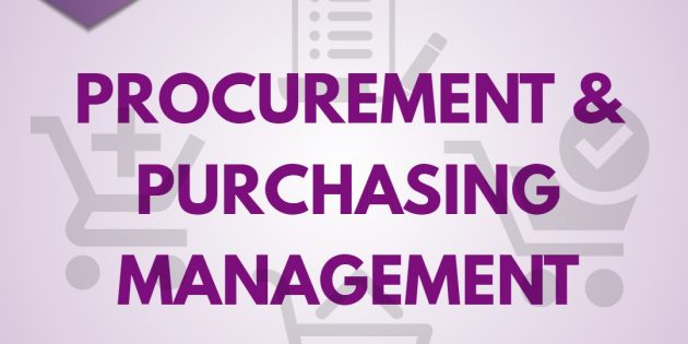 PURCHASING & PROCUREMENT MANAGEMENT – Almost Running